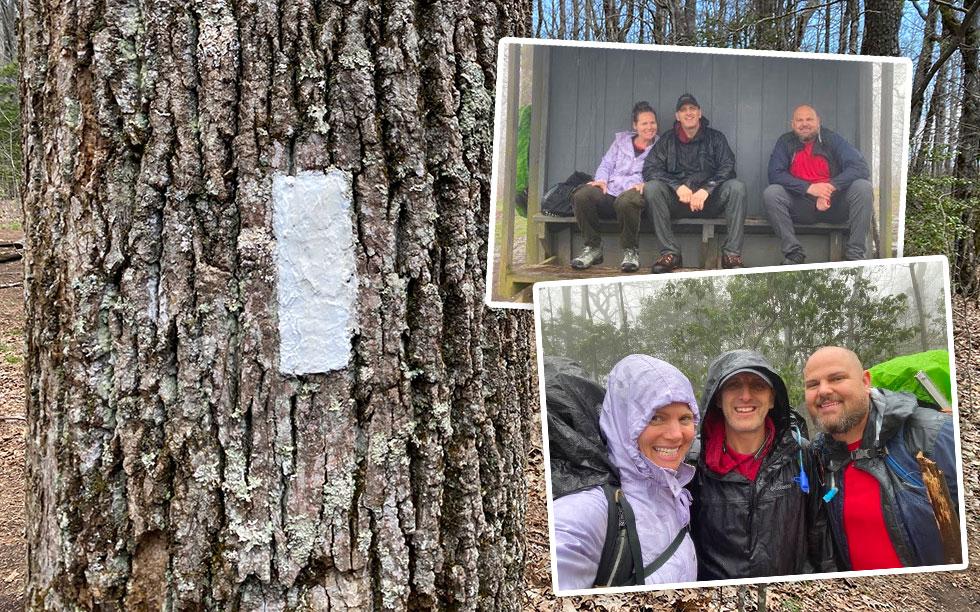 appalachian trail white blaze addis gap kelly knob